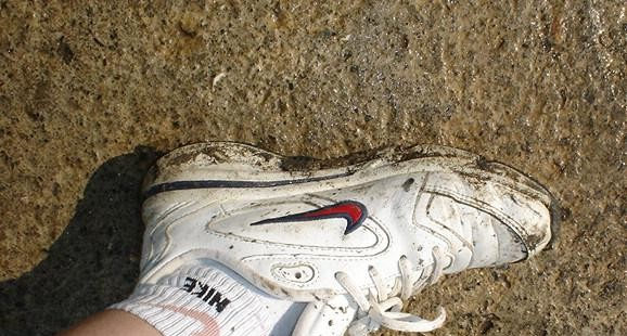 Dirty Nike shoe